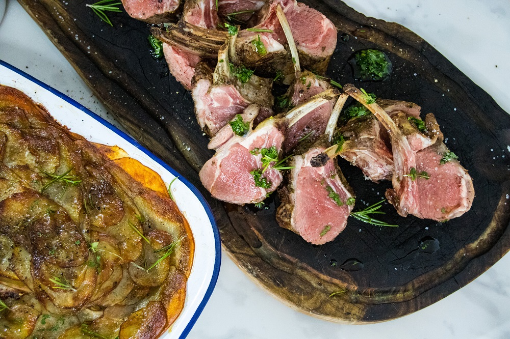 Mother's Day Recipe: Lamb Rack and Hotpot Potatoes